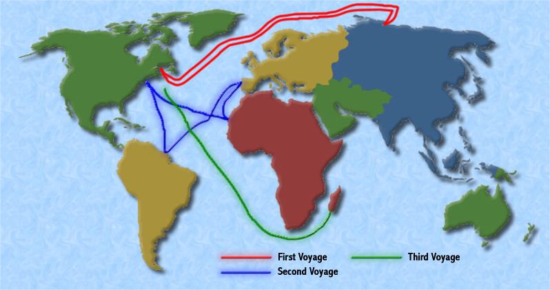 Hernan Cortes Exploration Route Map: European Explorers